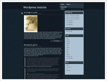 blackverse wordpress theme